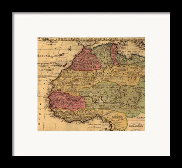 1742 French Map Of Northwest Africa Framed Print By Everett