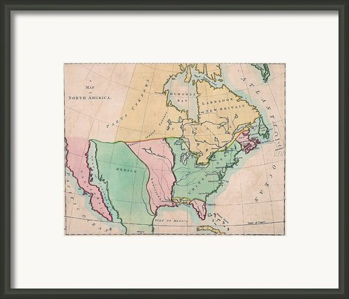 1803 Map Of  North American Showing Framed Print By Everett