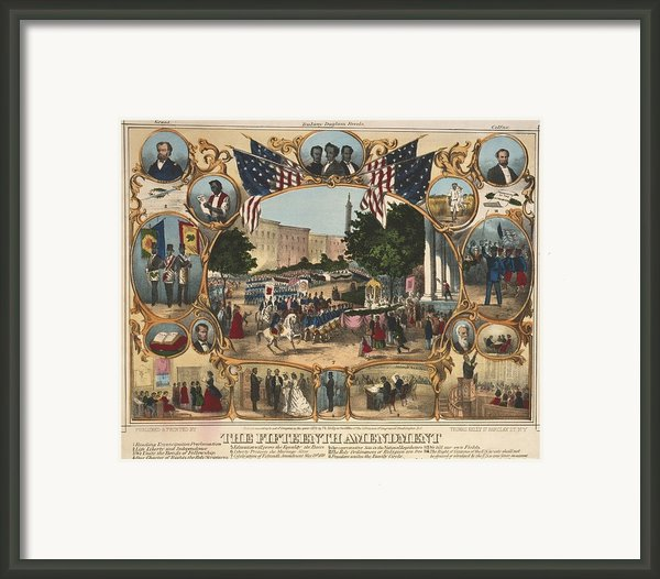 1870 Print Illustrating The Rights Framed Print By Everett