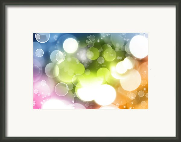 Abstract Background Framed Print By Les Cunliffe