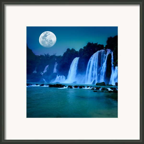 Waterfall Framed Print By Mothaibaphoto Prints