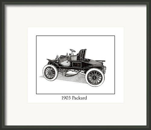 1903 Packard Framed Print By Jack Pumphrey
