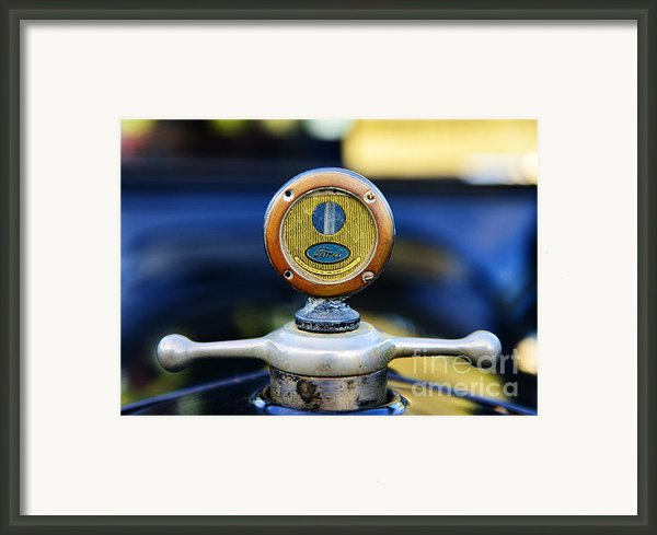 1919 Ford Model T Hood Ornament Original Framed Print By Paul Ward