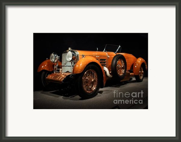 1924 Hispano Suiza Dubonnet Tulipwood . Front Angle Framed Print By Wingsdomain Art And Photography