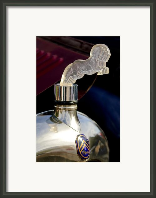 1925 Citroen Cloverleaf Hood Ornament Framed Print By Jill Reger