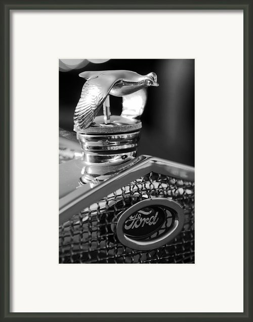 1930 Ford Quail Hood Ornament 3 Framed Print By Jill Reger