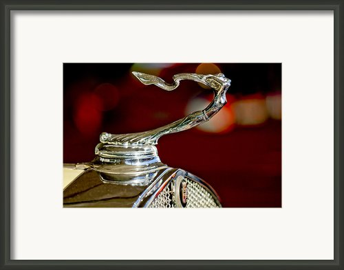 1931 Cadillac 355 A Roadster Hood Ornament Framed Print By Jill Reger