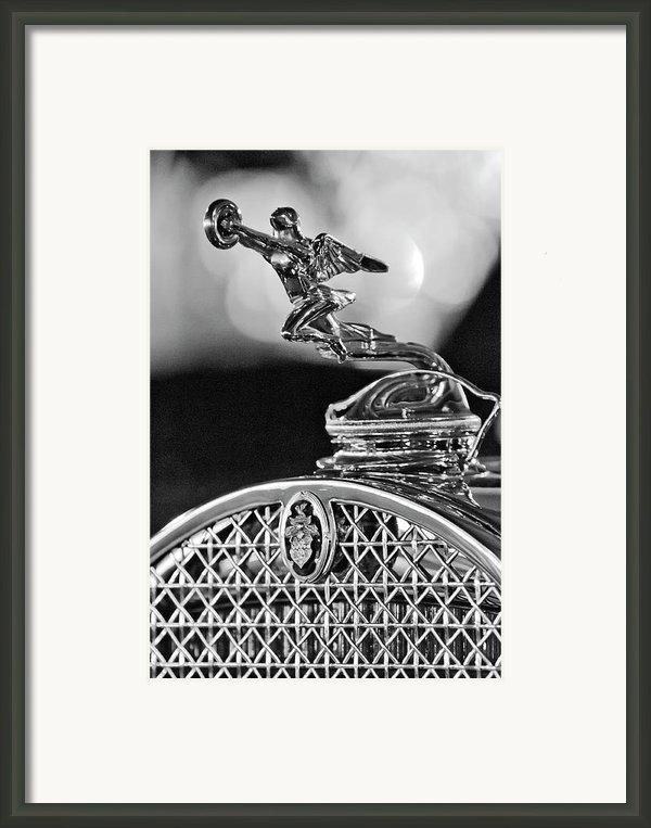 1931 Packard Convertible Victoria Hood Ornament 2 Framed Print By Jill Reger