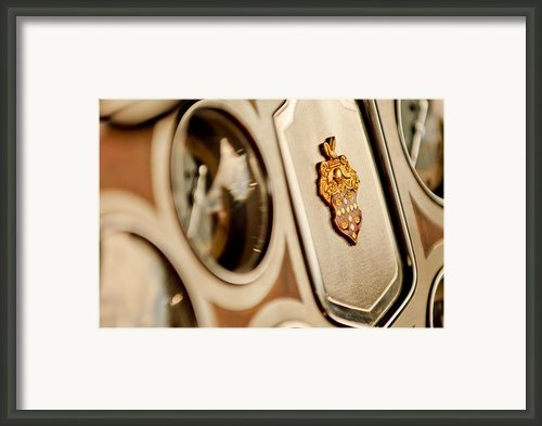 1934 Packard 1104 Super Eight Phaeton Emblem Framed Print By Jill Reger