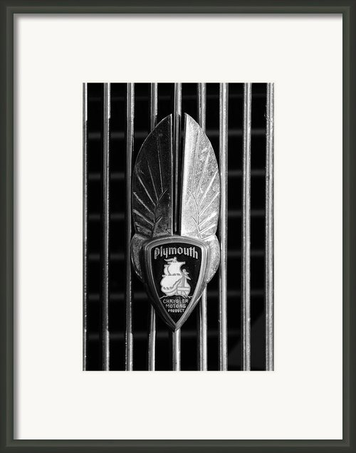 1934 Plymouth Emblem 2 Framed Print By Jill Reger