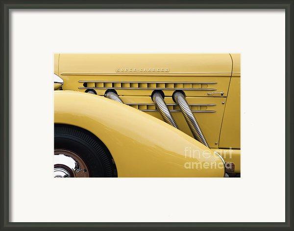 1935 Auburn 851 Sc Speedster Detail - D008160 Framed Print By Daniel Dempster