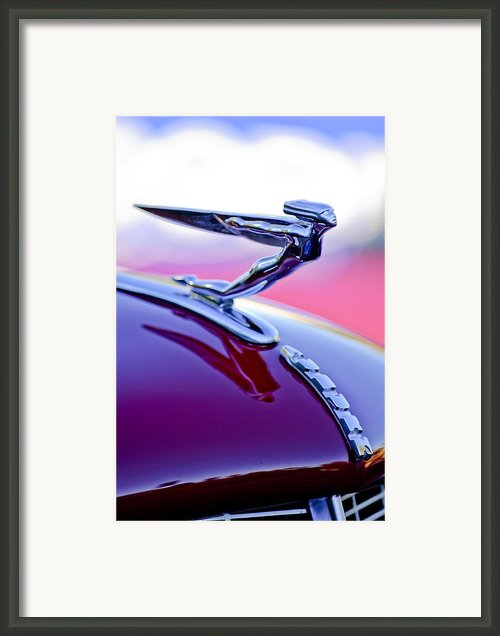 1935 Auburn Hood Ornament 4 Framed Print By Jill Reger