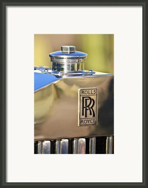 1935 Rolls-royce Phantom Ii Hood Ornament Framed Print By Jill Reger