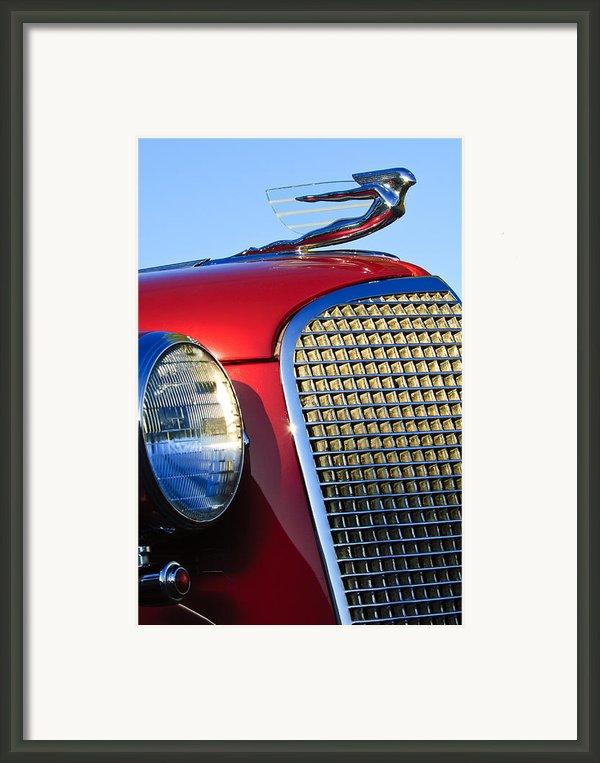 1937 Cadillac V8 Hood Ornament 2 Framed Print By Jill Reger