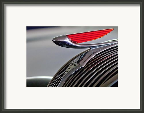 1937 Hudson Terraplane Sedan Hood Ornament Framed Print By Jill Reger