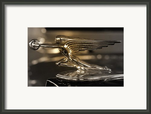 1937 Packard Hood Ornament   Framed Print By Steven  Digman