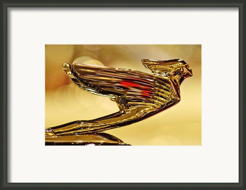 1938 Cadillac V-16 Sedan Hood Ornament 2 Framed Print By Jill Reger