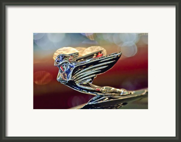 1938 Cadillac V-16 Sedan Hood Ornament Framed Print By Jill Reger