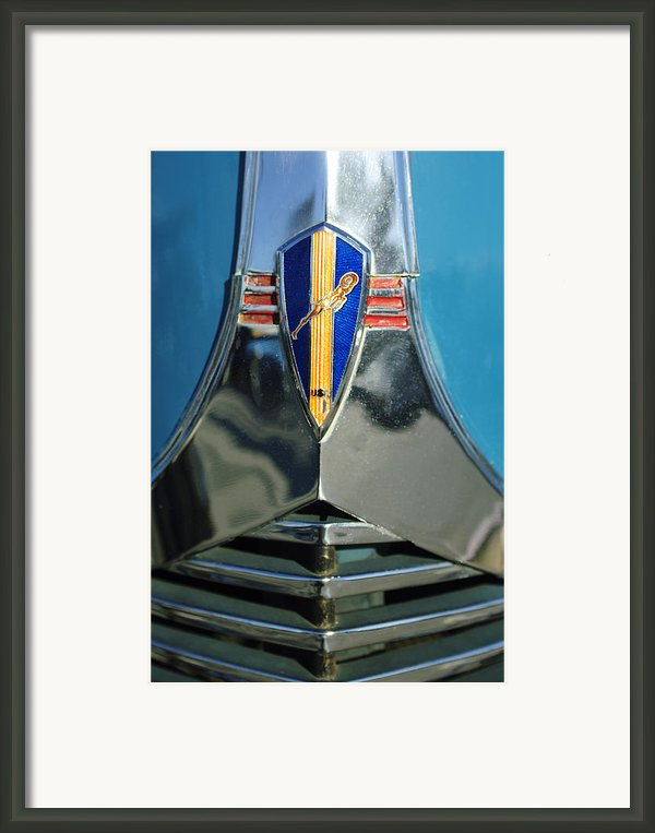 1940 Dodge Business Coupe Emblem Framed Print By Jill Reger