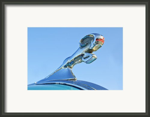 1940 Dodge Business Coupe Hood Ornament Framed Print By Jill Reger