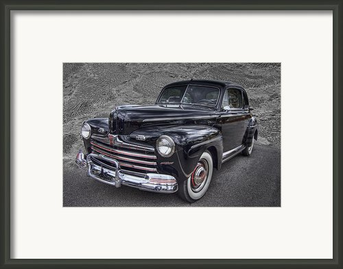 1946 Ford Framed Print By Debra And Dave Vanderlaan