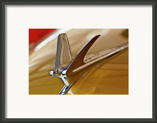 1949 Chevrolet Fleetline Hood Ornament Framed Print By Jill Reger