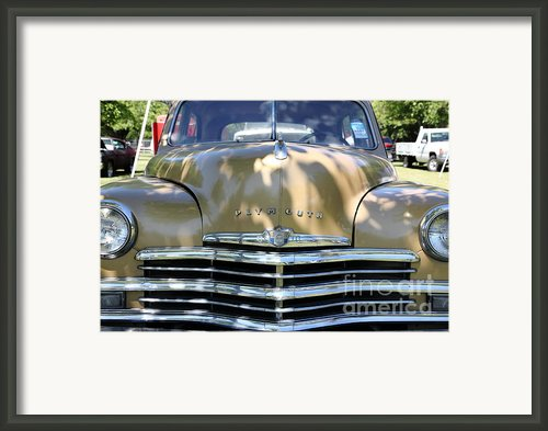 1949 Plymouth Delux Sedan . 5d16205 Framed Print By Wingsdomain Art And Photography