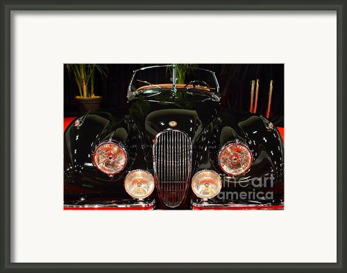 1950 Jaguar Xk120 Alloy Roadster . 7d9179 Framed Print By Wingsdomain Art And Photography