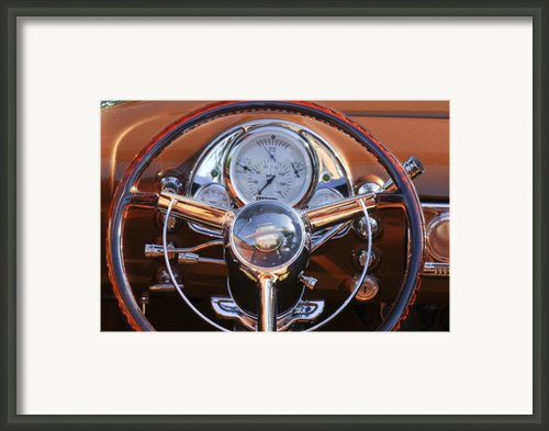 1950 Oldsmobile Rocket 88 Steering Wheel 2 Framed Print By Jill Reger