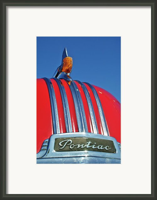 1951 Pontiac Chief Hood Ornament 2 Framed Print By Jill Reger