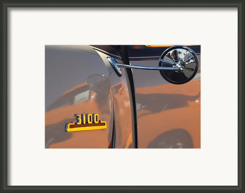 1953 Chevrolet 3100 Pickup Emblem Framed Print By Jill Reger