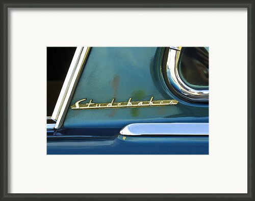 1953 Studebaker Champion Starliner Abstract Framed Print By Jill Reger