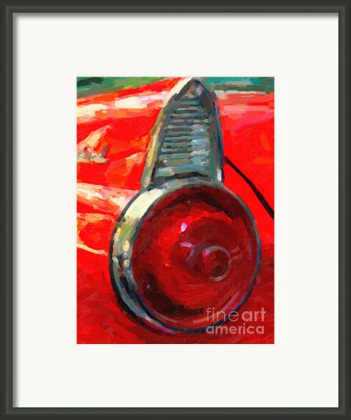1955 Ford Thunderbird . Wing View . Automotive Art Series Framed Print By Wingsdomain Art And Photography