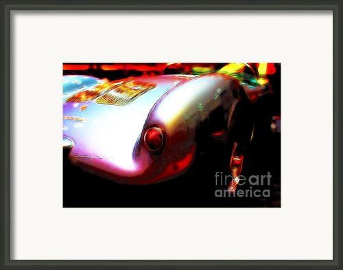 1955 Porsche 550 Rs Spyder . Color Sketch Style Framed Print By Wingsdomain Art And Photography
