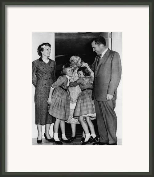 1956 Presidential Campaign, The Nixon Framed Print By Everett