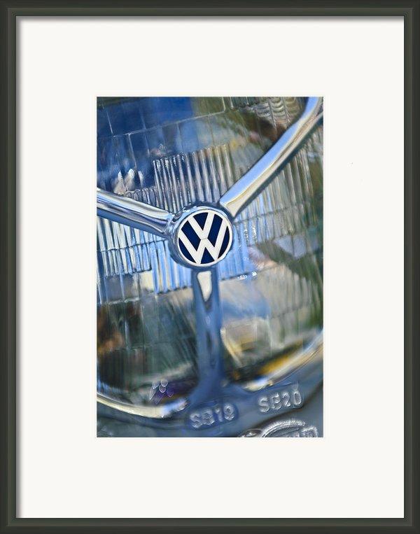 1956 Volkswagen Vw Bug Head Light Framed Print By Jill Reger