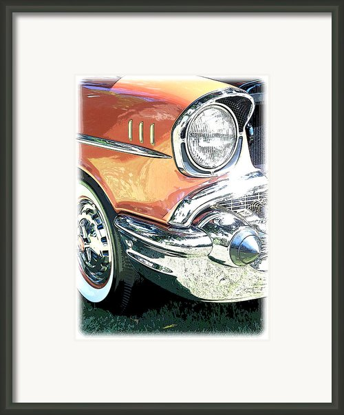 1957 Chevy Framed Print By Steve Mckinzie
