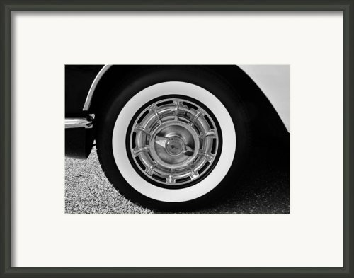 1958 Corvette White Walls Framed Print By David Lee Thompson
