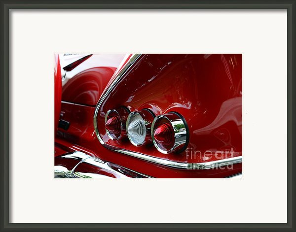 1958 Impala Tail Lights Framed Print By Paul Ward