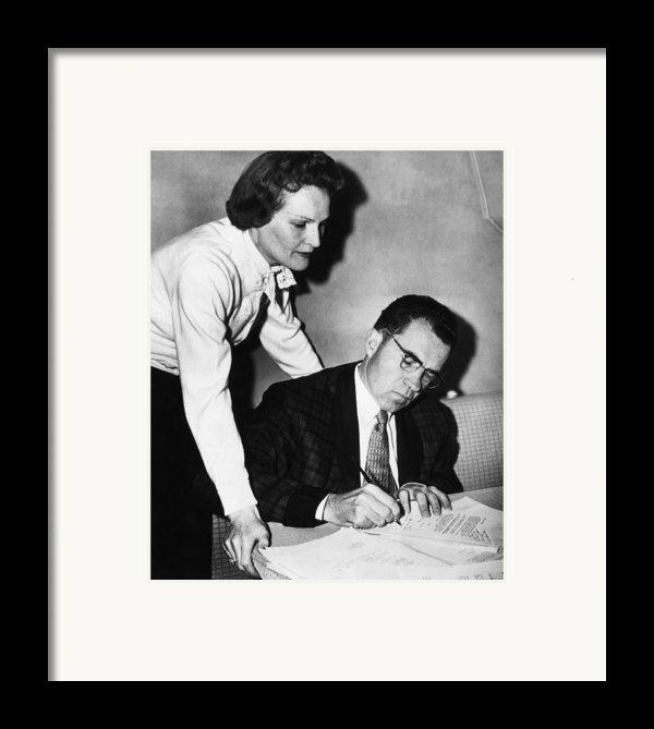 1958 Us Presidency.  Second Lady Framed Print By Everett