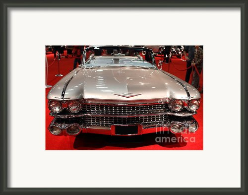 1959 Cadillac Convertible . Front View Framed Print By Wingsdomain Art And Photography