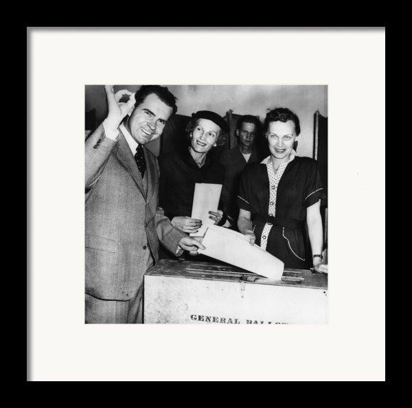 1962 Presidential Election. Senator Framed Print By Everett