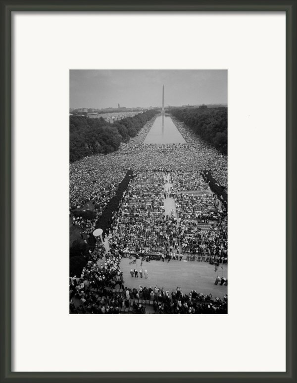 1963 March On Washington, At The Height Framed Print By Everett