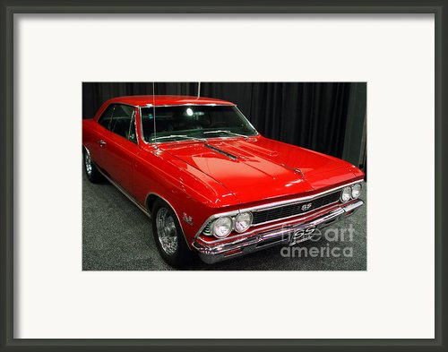 1966 Chevy Chevelle Ss 396 . Red . 7d9278 Framed Print By Wingsdomain Art And Photography