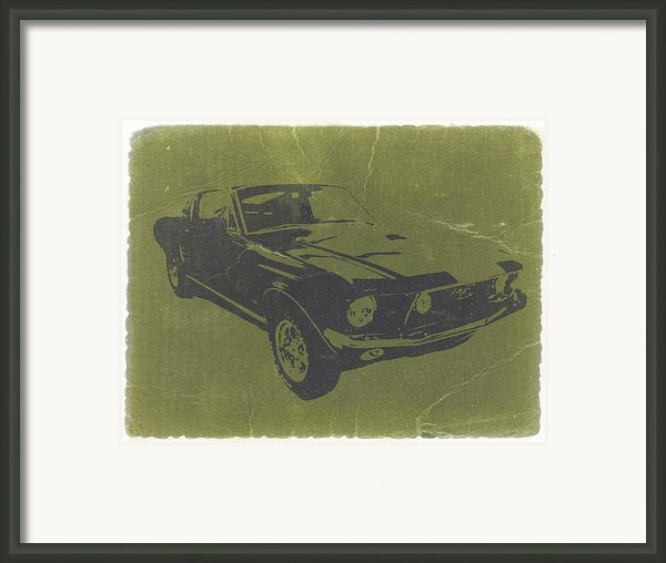 1968 Ford Mustang Framed Print By Naxart Studio