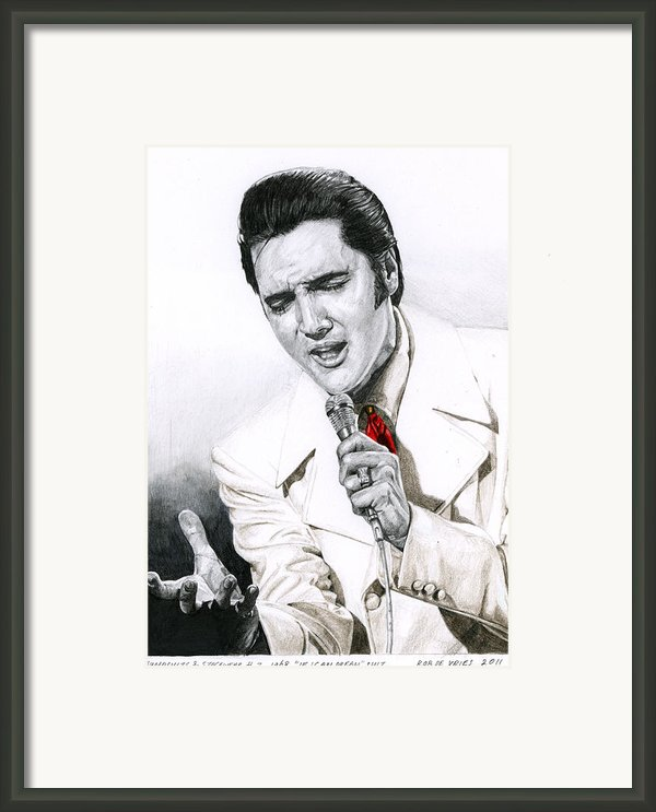 1968 White If I Can Dream Suit Framed Print By Rob De Vries