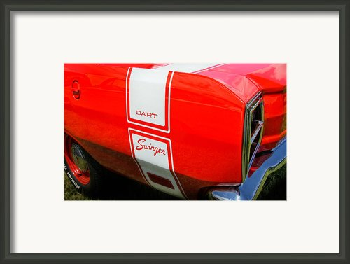 1969 Dodge Dart Swinger 340 Framed Print By Thomas Schoeller