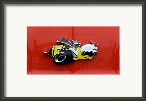 1970 Dodge Super Bee Emblem Framed Print By Paul Ward