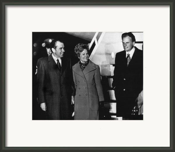 1972 Us Presidency.  From Left Framed Print By Everett