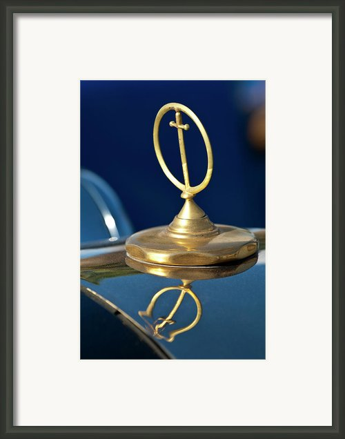 1984 Excalibur Roadster Hood Ornament Framed Print By Jill Reger